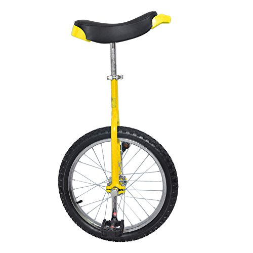 MRG 一輪車 unicycle 18インチ 安心 30日保証 空気入れ付 (イエロー, 18インチ)
