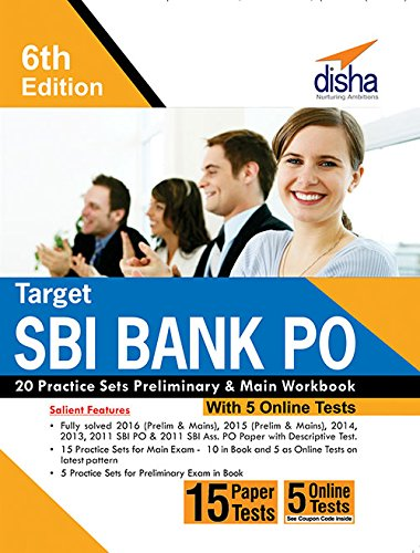 Target SBI Bank PO 20 Practice Sets Preliminary & Main Workbook with 5 Online Tests (English 6th edition)