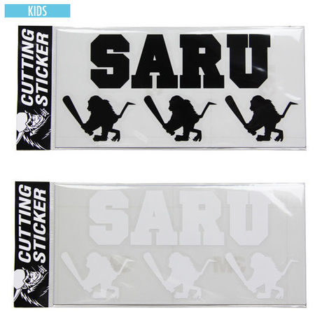 """【 Santastic! Kid's / サンタスティック キッズ 】Cutting Sticker """"SARU&BAT SARU"""""""